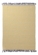 URBAN COTTON KILIM HOUNDSTOOTH YELLOW