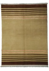 NEPAL KATMANTOU BEIGE BROWN LINEAR