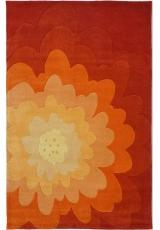 HANDTUFTED ACRYLIC 068L36-1 ORANGE