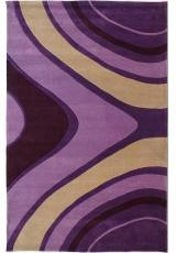 HANDTUFTED ACRYLIC 61A1 PURPLE
